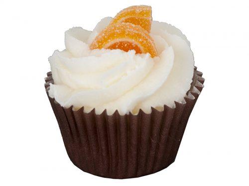 cupcake orange cannelle bain