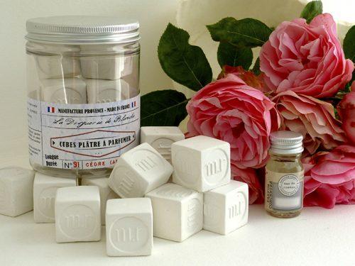 cubes parfumés cèdre lavande lin