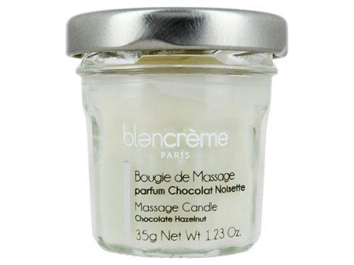 bougie massage chocolat noisette Blancrème