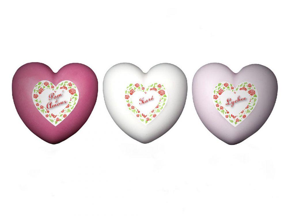 3 savons cœur Autour Du Bain